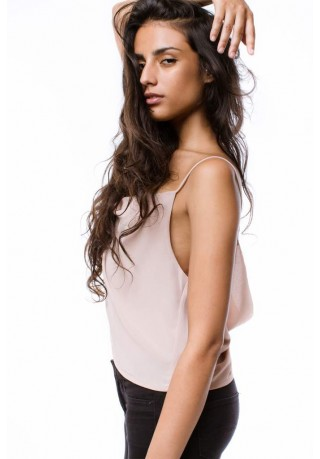 Zahra Drape Back Cami Top  (Nude)
