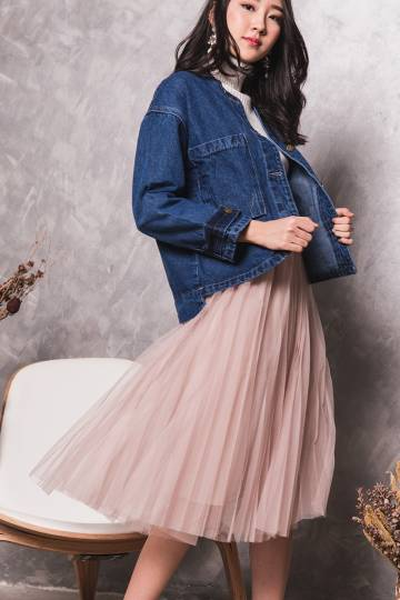 (BACKORDER II) Angela Tulle Skirt in Blush