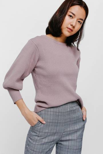 Shamiya Balloon Sleeve Sweater
