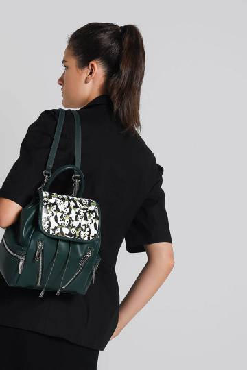 Printed Front Flap Backpack