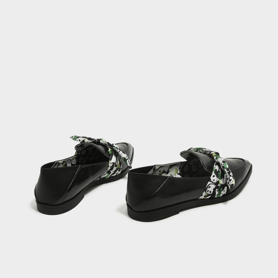Knotted Bow Convertible Loafers