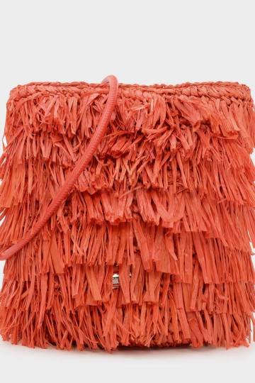 Raffia Detail Crossbody Bag