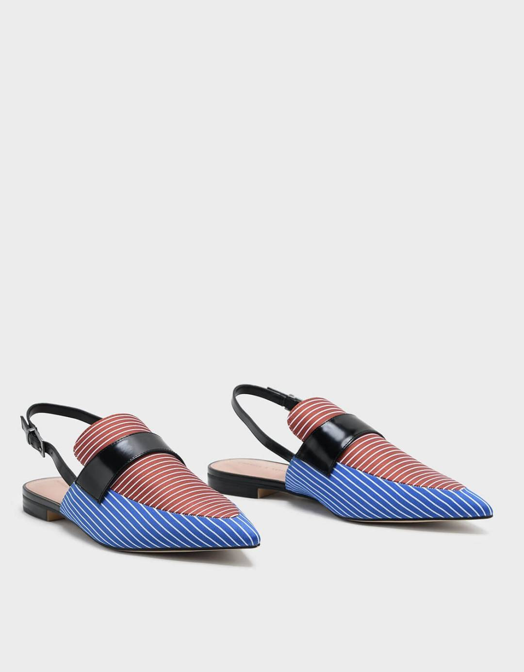 Pointed Slingback Loafers