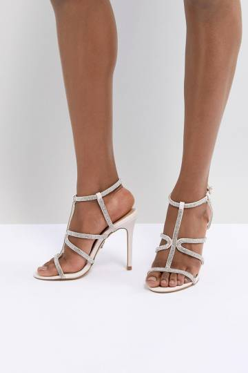 Lipsy Track Diamante Heeled Sandal