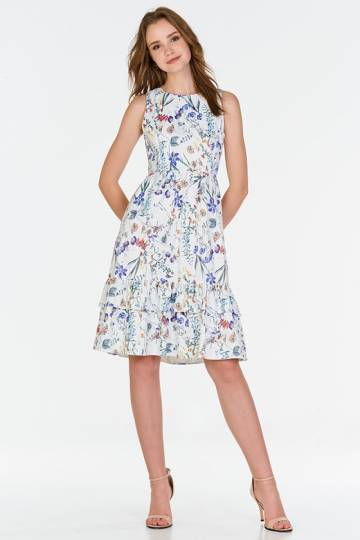 *Backorder* Keithia Floral Printed Midi Dress