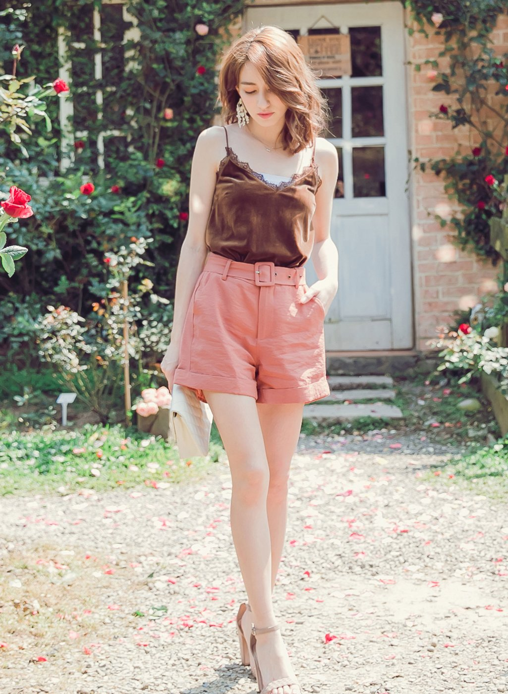 YOCO - Belted Casual Shorts