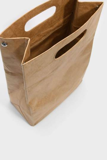 Cut Out Handle Structured Bag