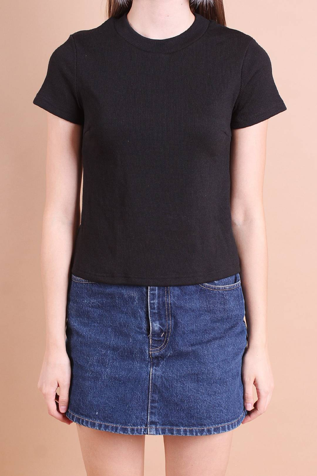 HAILEY EVERYDAY RIBBED TOP IN BLACK [S/M/L]