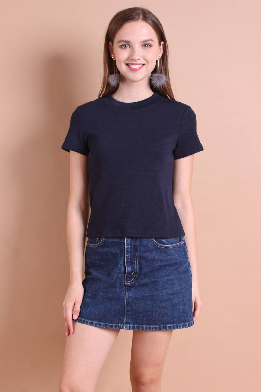 HAILEY EVERYDAY RIBBED TOP IN MIDNIGHT BLUE [S/M/L]