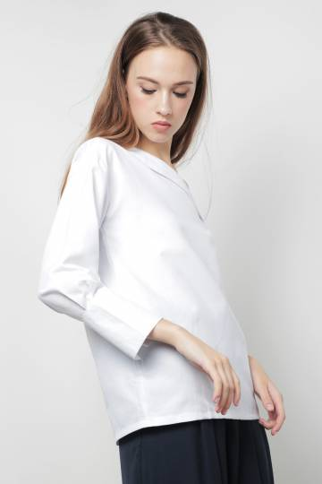 Brayden Toga Top White