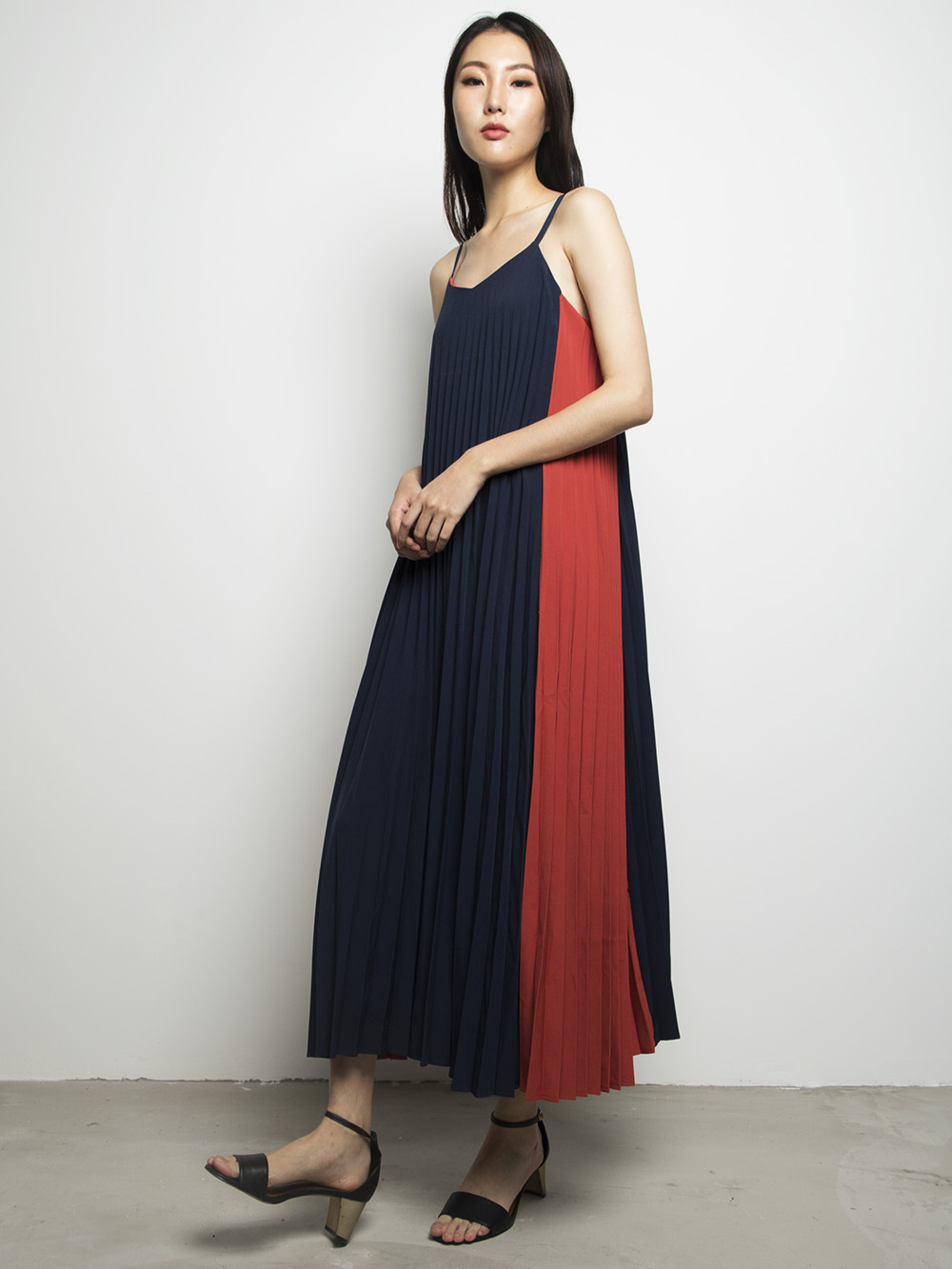 Positano Colour Block Maxi Navy
