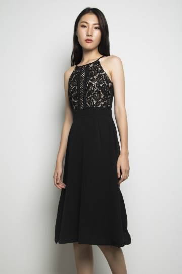 Auvry Lace Dress Black