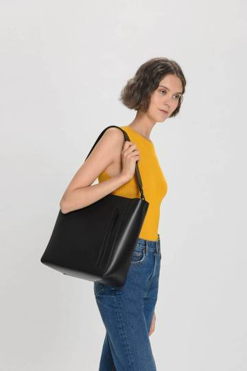 Zipped Detail Tote