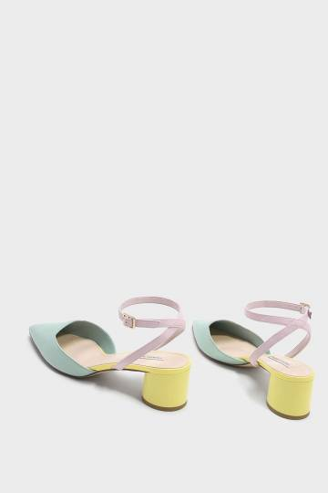 Cylindrical Heel Sandals