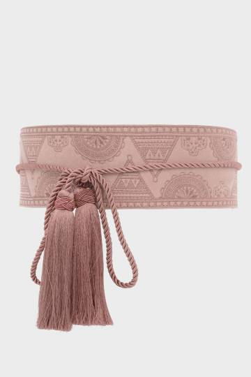 Tassle Detail Thick Belt