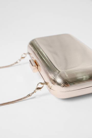 Barysel Metallic Box Clutch