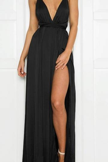 Greek Halia Maxi Dress (Black)