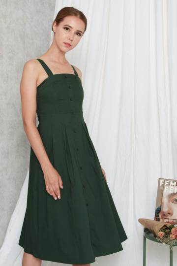 Seychelles Sundress Forest Green