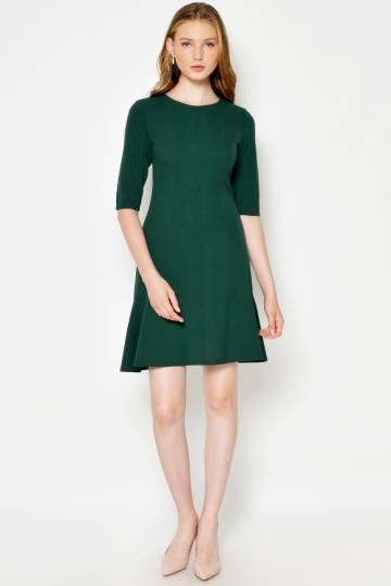 LORAINE FLOUNCE DRESS GREEN