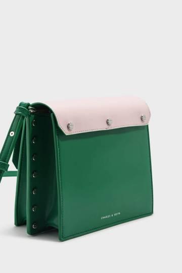 Reversible Flap Crossbody Bag