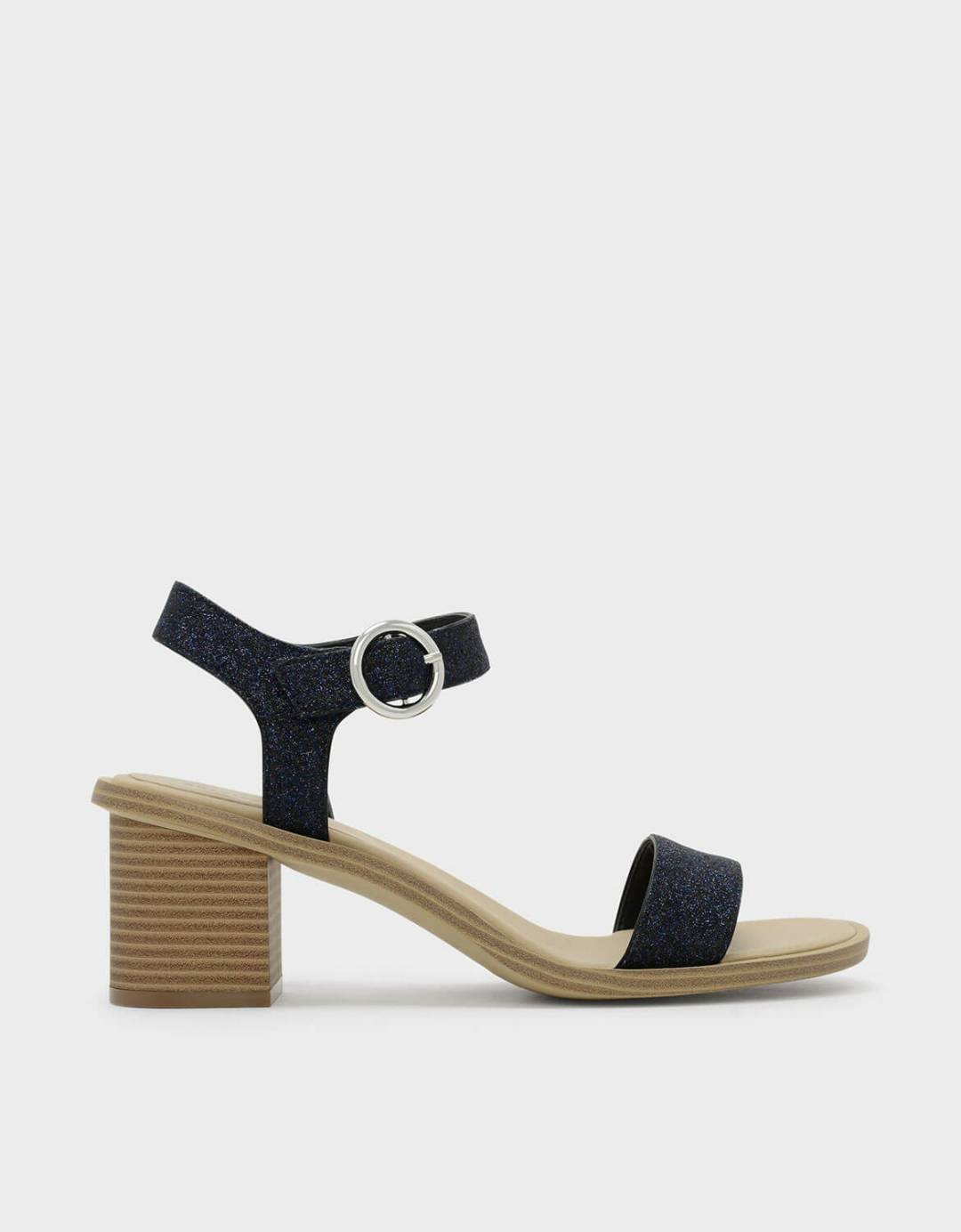 26772fb8f95f Glitter Ankle Strap Sandals. From Charles   Keith