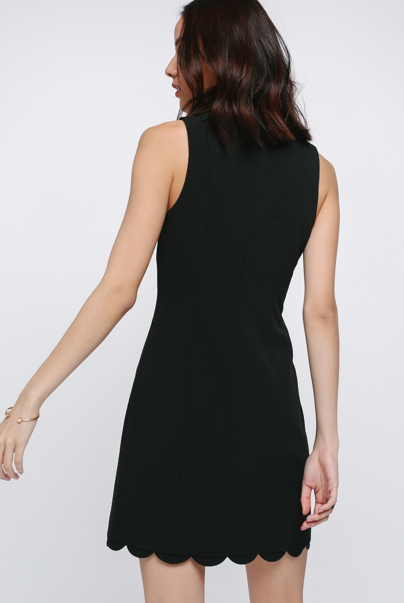 Adoette Scallop Hem Dress