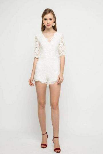 Adeline Lace Romper