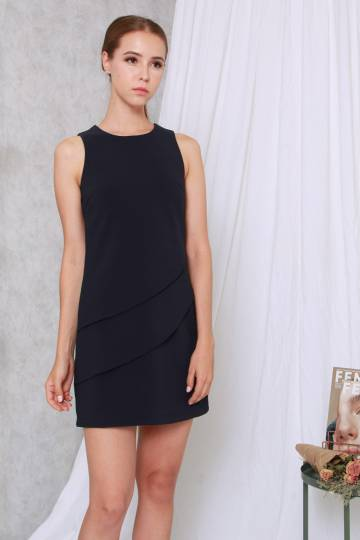 Karenza Shift Dress Navy