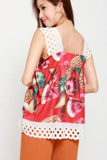 Mixed Fruit Top in Red