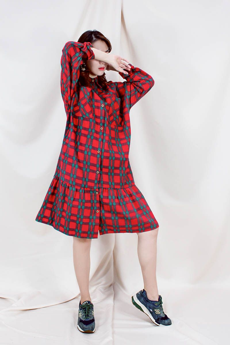 BAMBEE OVERSIZE SHIRT In Red