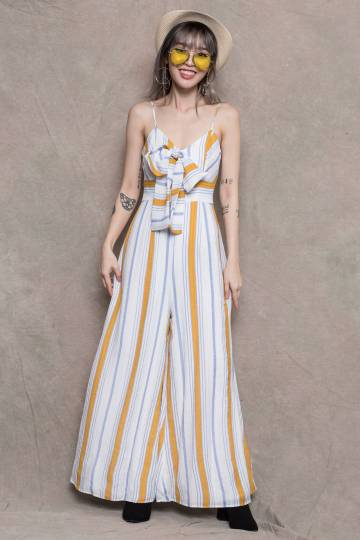 Vacay Jumpsuit in Yellow
