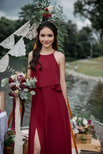 *BACKORDER* From This Moment Dress (Wine Red)