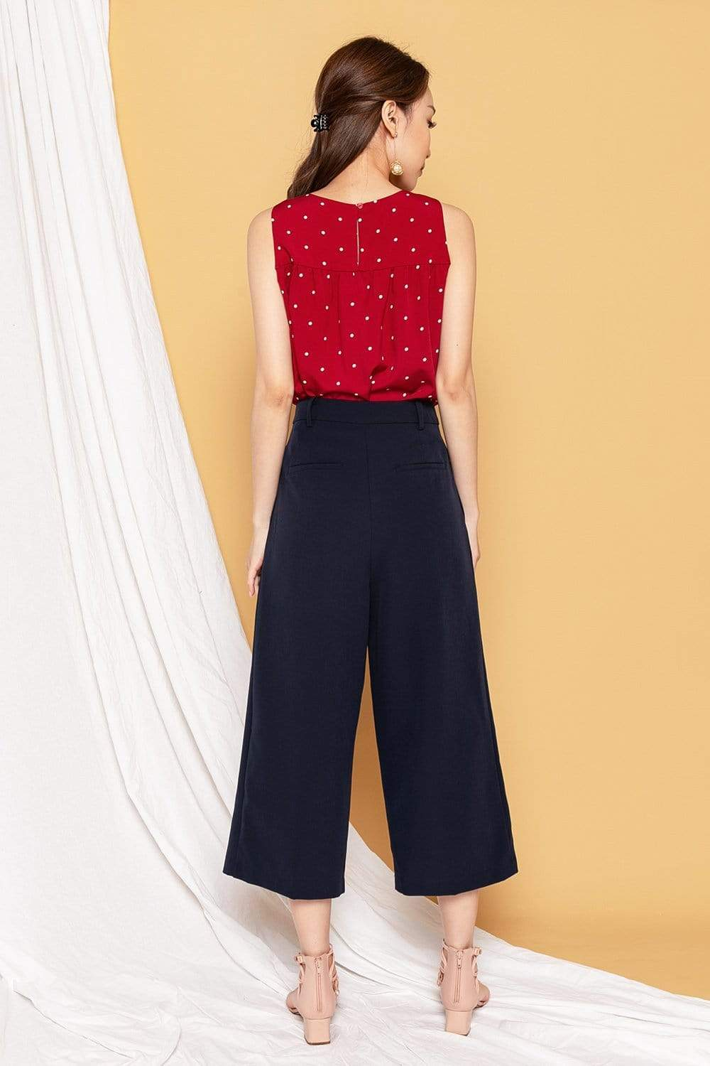 REIGN NAVY POCKET CULOTTES