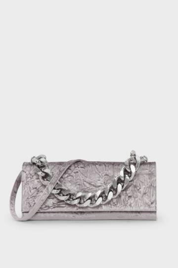 Chain Handle Front Flap Clutch