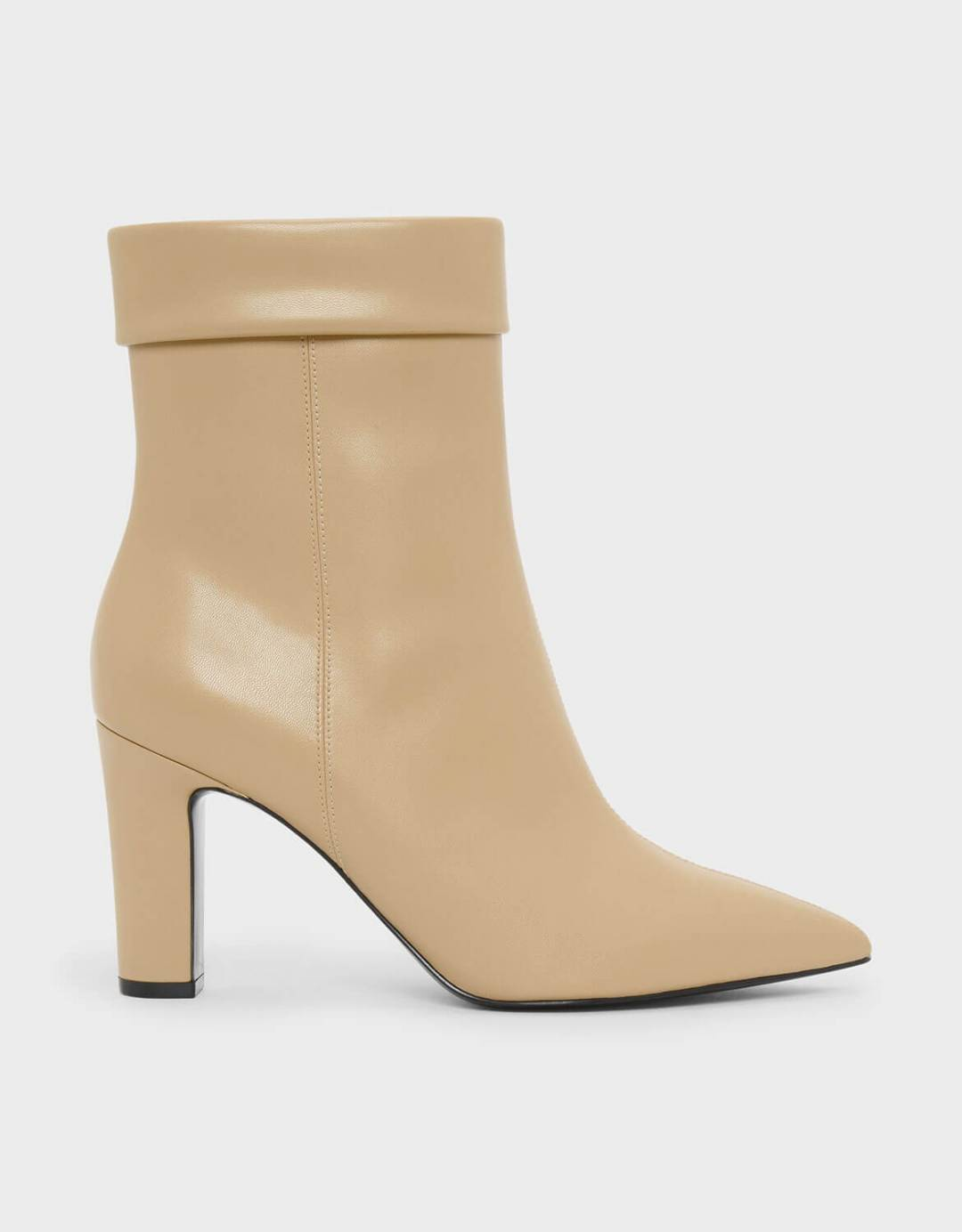 Cuff Detail Pointed Boots