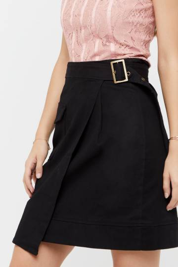 Yoav Buckle Wrap Skirt