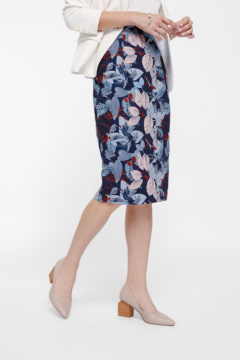Olevita Printed Pencil Skirt