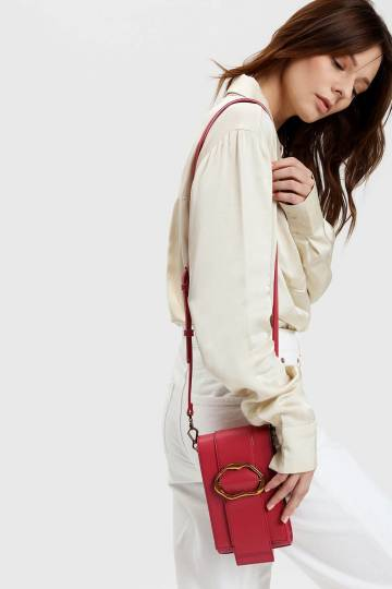 Gold Buckle Detail Crossbody Bag