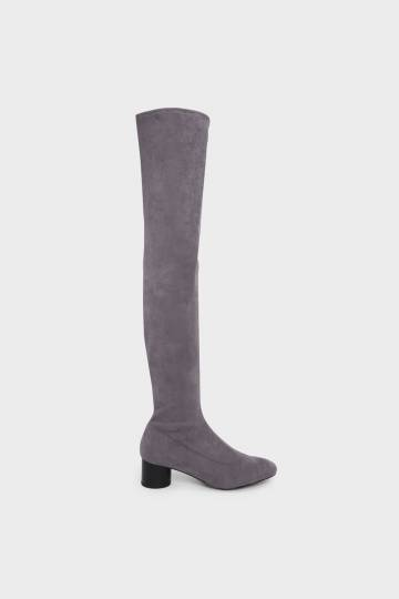 Cylindrical Heel Thigh Boots