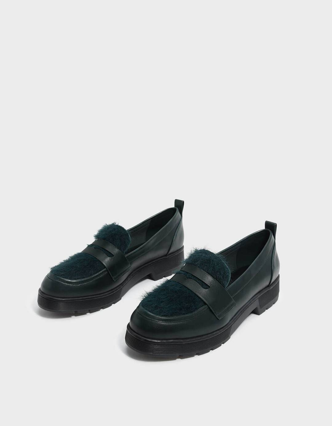 Furry Penny Loafers