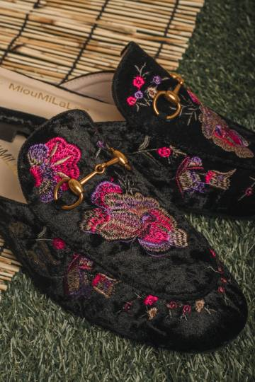 Embroidered Mules