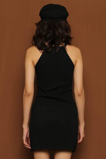 Knitty Gritty Dress in Black