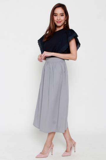 Chouko 2 in 1 Skirt Set in Blue Grey