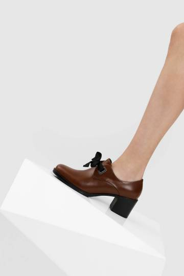 Stacked Heel Oxfords