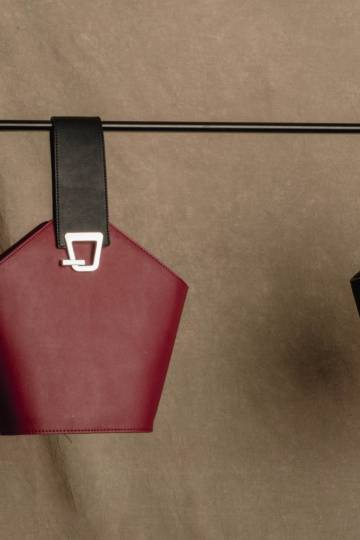 Ang Bow Bag in Wine Red