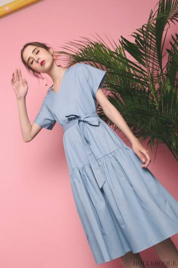Pammy Denim Midi Dress Light