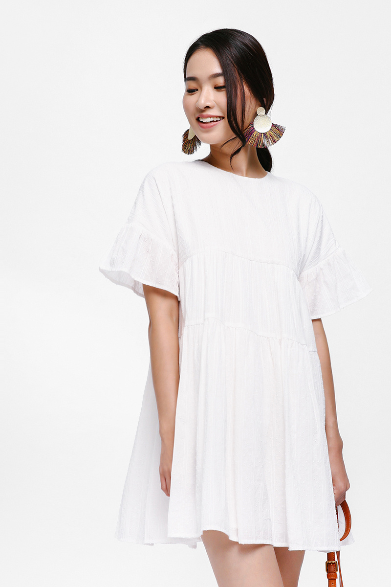 Gaile Tiered Swing Dress