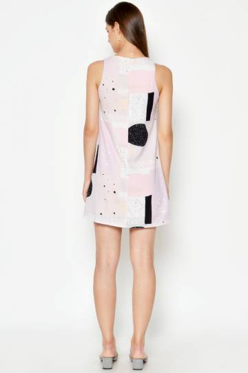 ALEXI PRINTED SHIFT DRESS