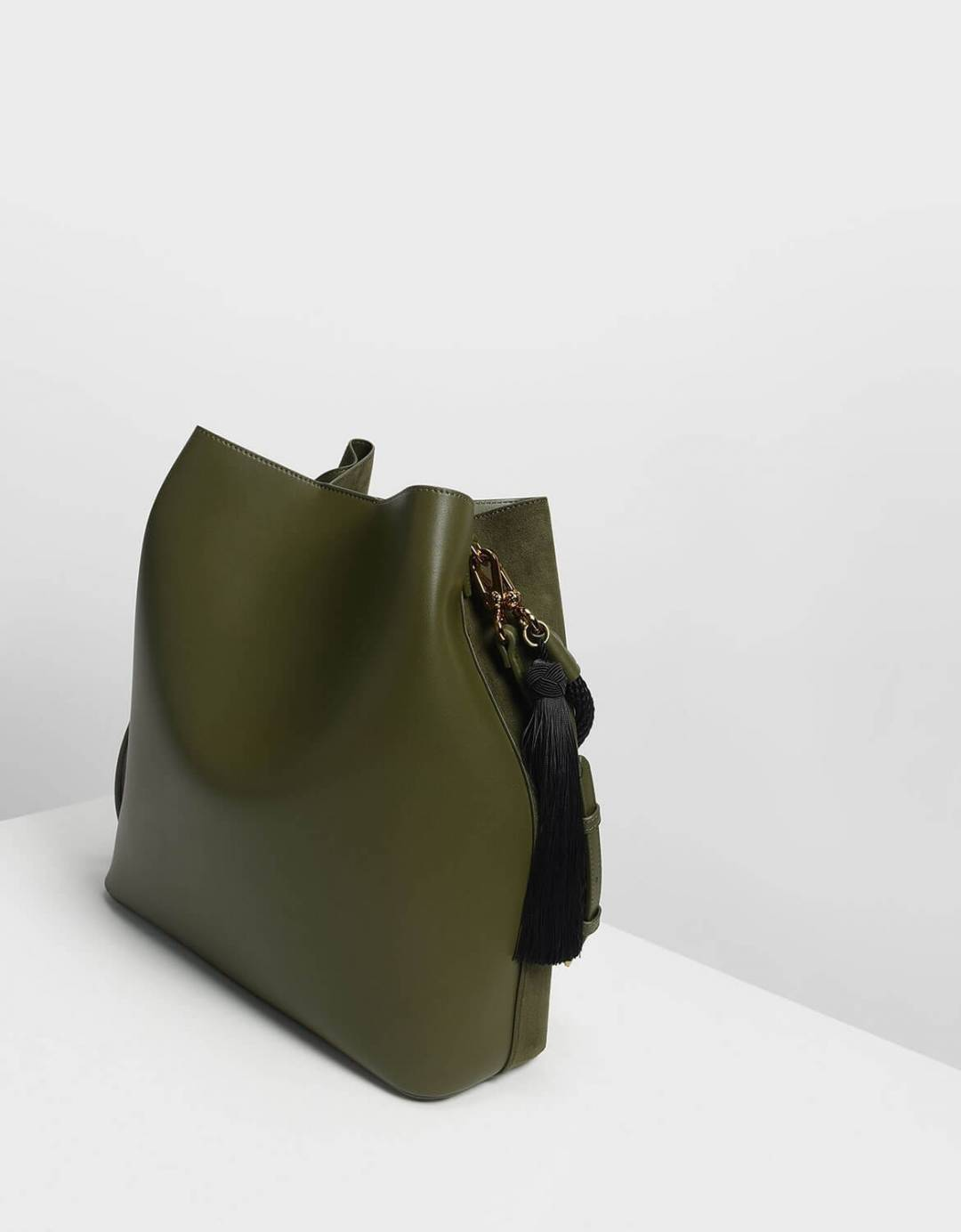 87a9b502f4 Tassel Detail Oversized Bucket Bag. From Charles   Keith