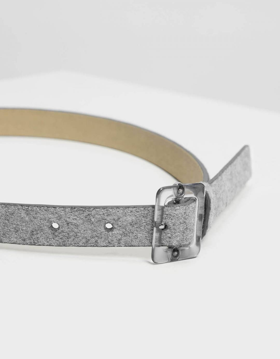 Oversized Acrylic Buckle Belt